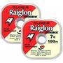 Linha Mono. Super Raiglon 0,37mm 13,82kg Rolo 100m