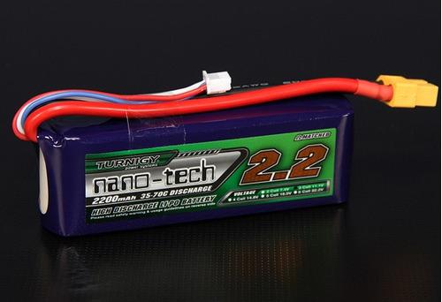 Lipo Turnigy Nano Tech - 3s 11,1v-35/70c - 2200mah