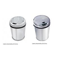 Kit Lixeiras Inox Automática Sensor: 03 E 06 Litros