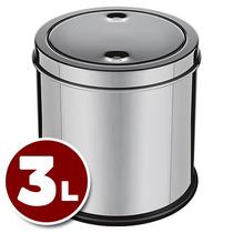 Lixeira Com Tampa Basculante 3 Litros Em Inox - Euro Jxfg3l