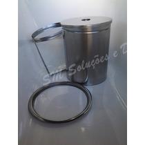 Lixeira 25x30 P/ Pia Cozinha Embutir No Granito Em Inox 8lt