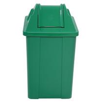 Cesto De Lixo Plastico Tampa Vai E Vem Capacidade 100lt Q100