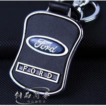 Chaveiro Ford Couro & Cromado - Perfeito !!! Top !!!