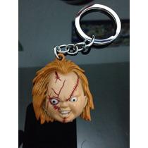 Chaveiro Alto Relevo Chucky Boneco Assasino Em Aço Filme