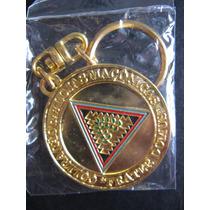 Chaveiro Comemorativo Maçônaria 50 Anos Dourado