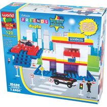 Brinquedos De Montar Distrito Policial 120 Peças Grandes