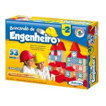 Brincando De Engenheiro 53 Peças - Xalingo - Pronta-entrega