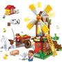 Brinquedo Montar Tipo Lego Moinho Da Fazenda 260 Pcs Banbao