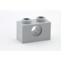 Lego Technic 10 Peças Brick 2x1 C/ 1 Furo Cinza Cl Pn 3700