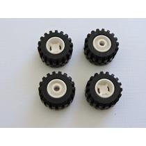 Lego Peças Jogo 4 Rodas Aro+pneu - Pn 6014a / Pn 6015 - L308