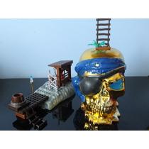 Mega Bloks Piratas Do Caribe Caverna Da Caveira Tipo Lego