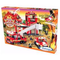 Combate A Incendio - Bombeiros 713 Peças - Xalingo
