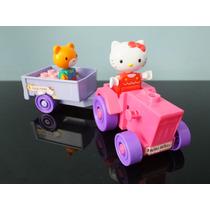 Lote 2 Bonecos E Vagão Hello Kitty Brick Block Sanrio