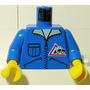 973px122c01 Torso Town Bulldozer Logo, Zip Peça Lego Avulsa