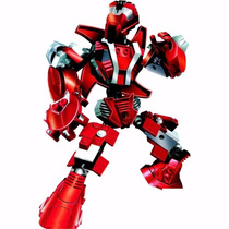 Robô Guerreiro Red Armor 59 Peças Xalingo Para Montar