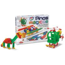 Pinos Mágicos Elka 170 Peças Brinquedo De Montar Original