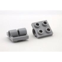 Lego Technic 5 Peças Brick 2 Furos Pino 2x2 Pn 2817 Cinza Cl