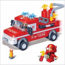 Brinquedo De Montar - Blocos - Carro Bombeiro - 158 Peças
