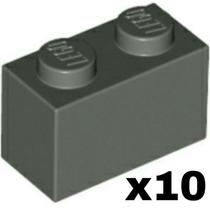 Lego Peças Avulsas #3004 Dark Gray Brick 1x2