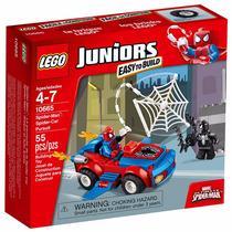 Lego Juniors - Spider-man Carro Boneco Homem Aranha