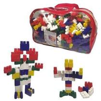 Brinquedo Pedagógico Sacolão Plugando Lig Com 1000 Peças