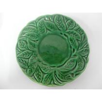 Pequeno Prato De Porcelana Verde Esmeralda