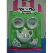 #6646# Jogo De Cha Porcelana Miniatura Bibelot Lindo!!!!!