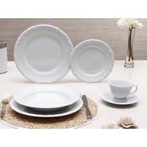 Jogo Jantar, Chá 30 Peças Porcelana Schmidt Branco Pomerode