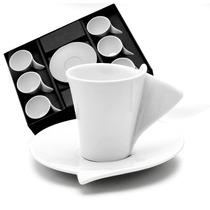 Jogo 6 Xícaras E Pires Lyon P Café Wolff 1159 Lole Presentes