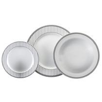 Aparelho De Jantar Aline 18 Peças De Porcelana - Schmidt