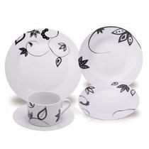 Aparelho De Jantar E Chá Maresias De Porcelana 20 Peças