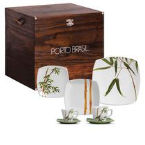 Aparelho De Jantar Bambu Square Porto Brasil Baú 42 Peças