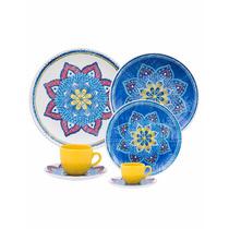 Aparelho Jogo De Jantar Chá 42 Peças, Oxford Porcelana Louça