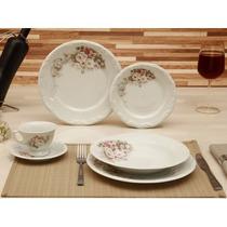 Serviço Jantar Chá Café 42 Pçs Porcelana - Schmidt Eterna