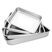 10 Conjuntos De Assadeiras Altas Em Alumínio Liso - 40 Peças