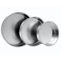 Conjunto Com 3 Formas Redondas Altas Para Bolo Em Aluminio