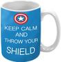 Caneca Personalizada Keep Calm And T... (capitão América)