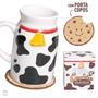 Caneca Com Porta Copo - Milk And Cookie