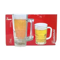 Kit 2 Caneca Copo De Vidro,chopp,cerveja,água,refrigerante
