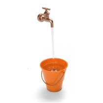 Caneca Magica Fonte De Agua Torneira Cascata Balde Laranja