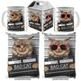Kit Bad Cat Caneca + Almofada + Caixinha Personalizada