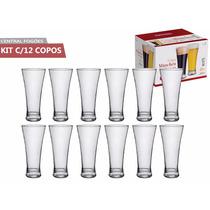 Kit C/12 Copos De Vidro 360ml P/cerveja Bar Restaurante