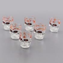 Jogo 6 Copos Vodka Tequila Caveira Rock Bon Gourmet - 25157