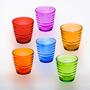 Jogo Com 6 Copos Coloridos Para Whisky, Suco, Refresco 6937