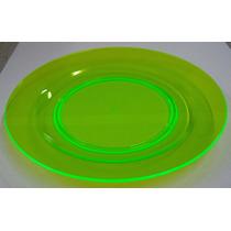 Pratos De Acrílico Cores Neon (cx Com 12un)
