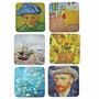Jogo 6 Porta Copos Em Cortiça 10x10 Cm Van Gogh