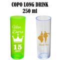 Long Drink 250ml Acrílico Plástico Personalizado 100 Pçs.
