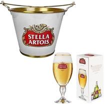 7 Cálice Taça Copo Stella Artois 250ml Cerveja+ Balde Gelo