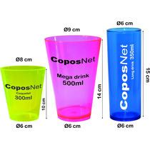 Copo Personalizado Acrílico Coquetel Mega E Long Drink 50pçs
