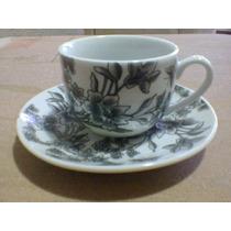 Jogo Para Café Porcelana Preto E Branco